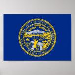 Nebraska Flag Posters