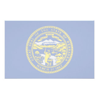 Nebraska Flag Personalized Stationery