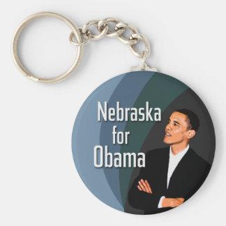 Nebraska for Obama Basic Round Button Keychain
