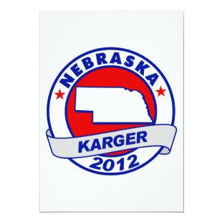 Nebraska Fred Karger Card