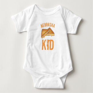 Nebraska Fried Toasted Cheese Frenchees Sandwich Baby Bodysuit