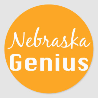 Nebraska Genius Gifts Classic Round Sticker