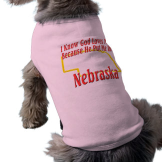 Nebraska - God Loves Me Shirt