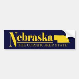 Nebraska Gold Bumper Sticker