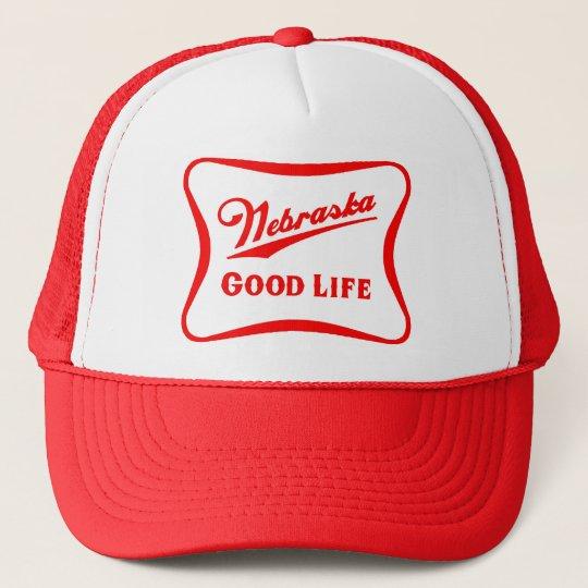 Nebraska Good Life Snapback Trucker Hat  42ccc9606fe