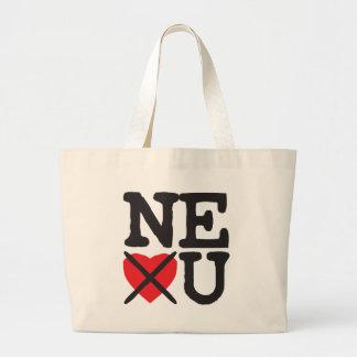 Nebraska Hates You Large Tote Bag