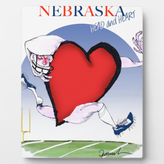 nebraska head heart, tony fernandes plaque