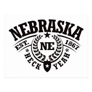 Nebraska, Heck Yeah, Est. 1867 Postcard