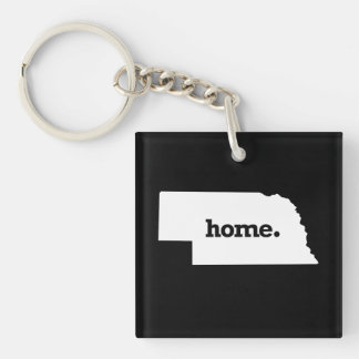 NEBRASKA HOME STATE -.png Keychain