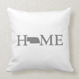 Nebraska Home State Throw Pillow