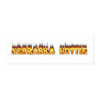 Nebraska Hottie fire and flames Business Cards
