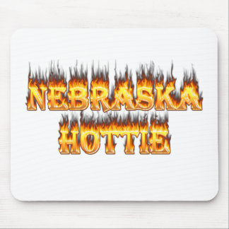 Nebraska Hottie fire and flames Mouse Pad