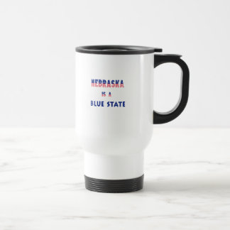 Nebraska is a Blue State Travel Mug