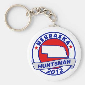 Nebraska Jon Huntsman Key Chain