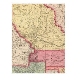 Nebraska, Kansas, New Mexico Postcard