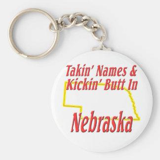 Nebraska - Kickin' Butt Keychain
