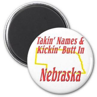 Nebraska - Kickin' Butt Refrigerator Magnet