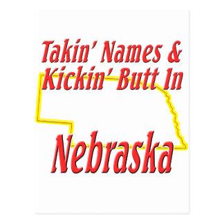 Nebraska - Kickin' Butt Postcard