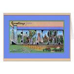 Nebraska Large Letter Greetings Greeting Cards