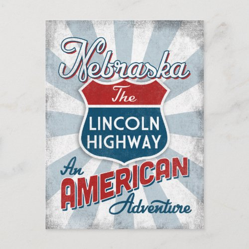 Nebraska Lincoln Highway Vintage America Postcard