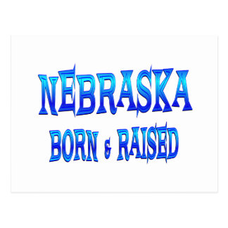 Nebraska llevado y aumentado tarjeta postal