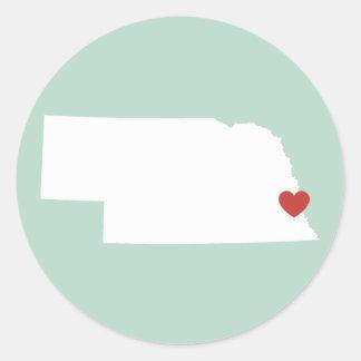 Nebraska Love - Customizable Sticker