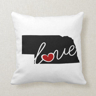 Nebraska Love!  Gifts for NE Lovers Throw Pillow