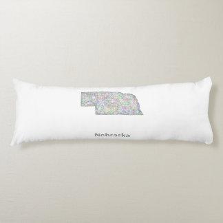 Nebraska map body pillow