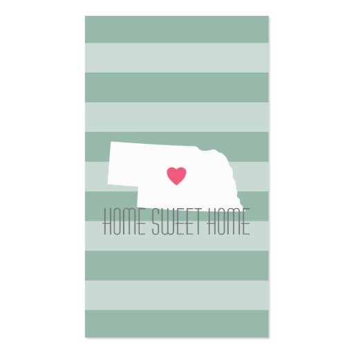 Nebraska Map Home State Love with Custom Heart Business