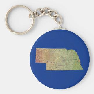 Nebraska Map Keychain