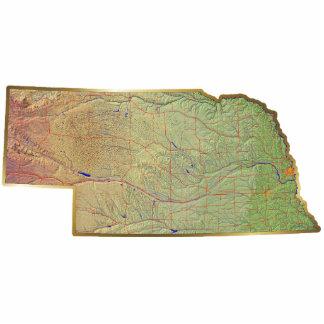 Nebraska Map Keychain Cut Out