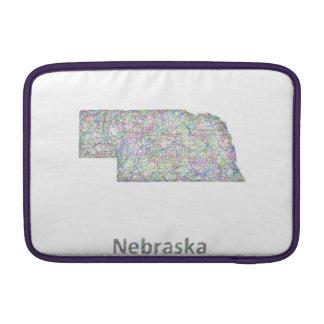 Nebraska map MacBook sleeve