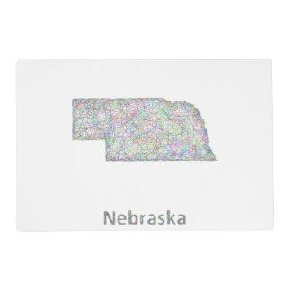 Nebraska map placemat