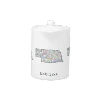 Nebraska map teapot