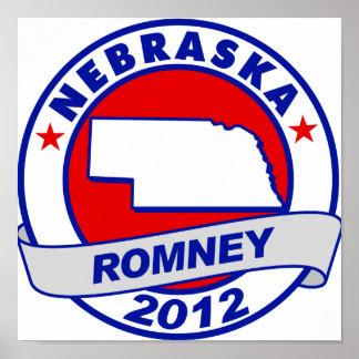 Nebraska Mitt Romney Poster