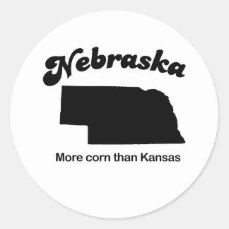 Nebraska - More corn than Kansas Classic Round Sticker