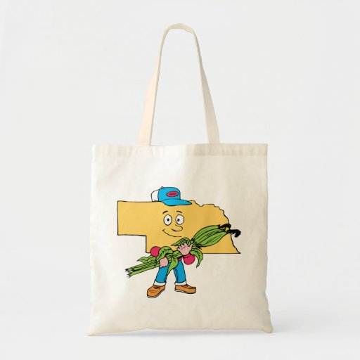 Nebraska NE Corn Vintage Travel Souvenir Budget Tote Bag