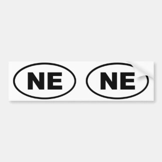 Nebraska NE oval Bumper Sticker