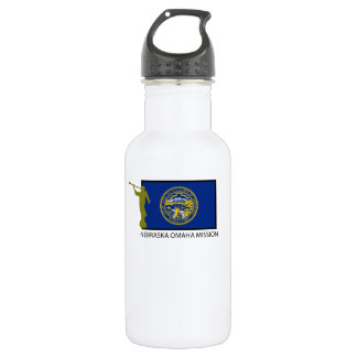 NEBRASKA OMAHA MISSION LDS CTR STAINLESS STEEL WATER BOTTLE