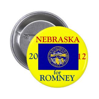 Nebraska para Romney 2012 Pin Redondo De 2 Pulgadas