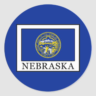 Nebraska Pegatina Redonda