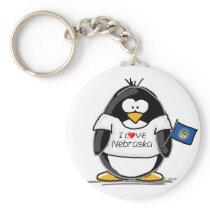 Nebraska penguin keychain