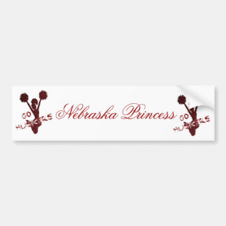 Nebraska Princess Bumper Sticker