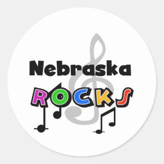 Nebraska Rocks Classic Round Sticker