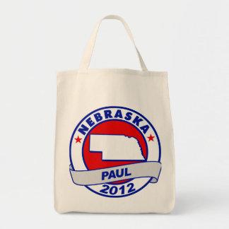 Nebraska Ron Paul Tote Bags