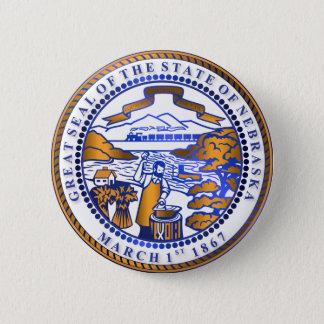 Nebraska seal button