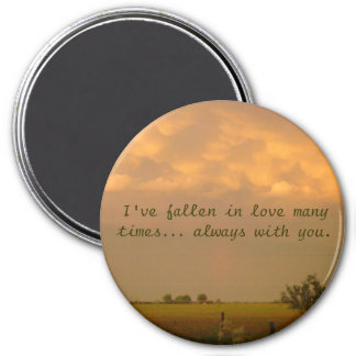nebraska sky 2, I've fallen in love many times.... Fridge Magnets
