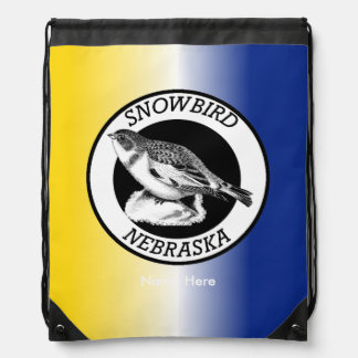 Nebraska Snowbird Drawstring Bag