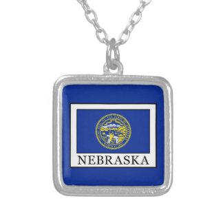 Nebraska Square Pendant Necklace