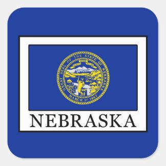 Nebraska Square Sticker